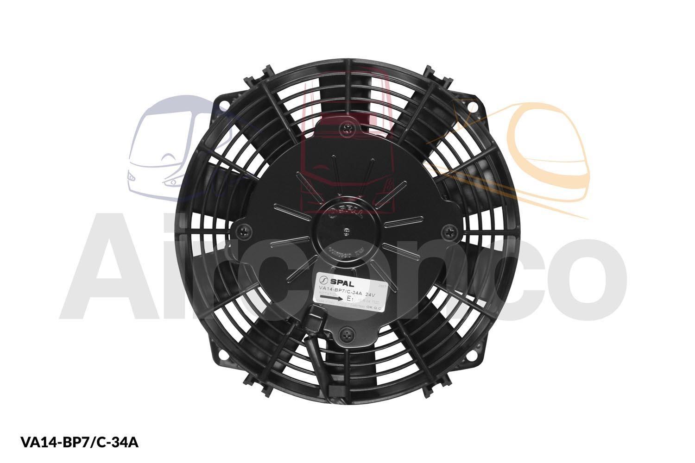 Spal Axial Fan Va14 Bp7 C 34a 24v Airconco Coach Bus Hvac Wiring Diagram Single