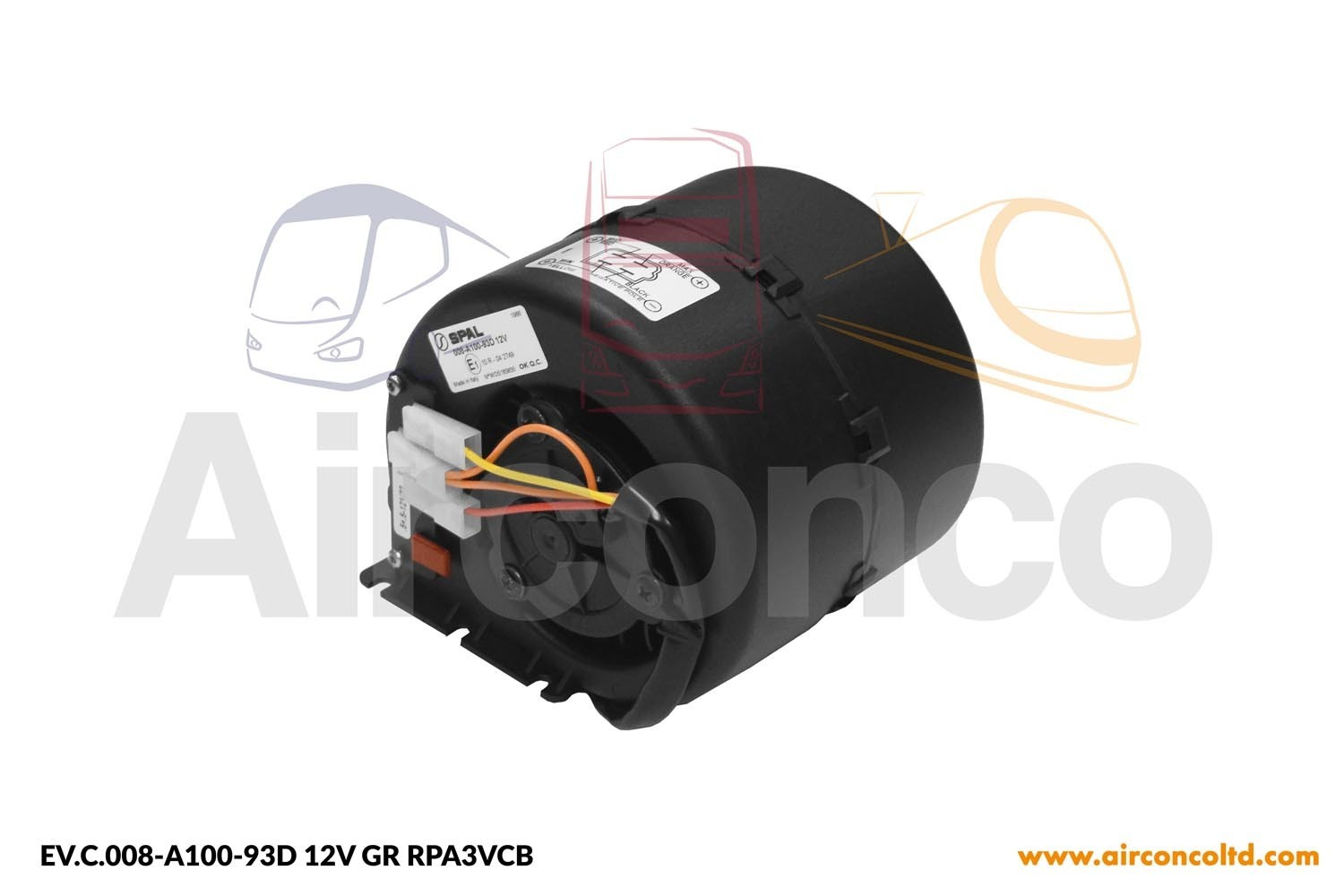 Spal Blower 008 A100 93d 3 Speed 12v Hubbard 17475 Airconco 106 Wiring Diagram Fans 3sp